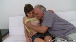 This horny old pervert loves young pussies